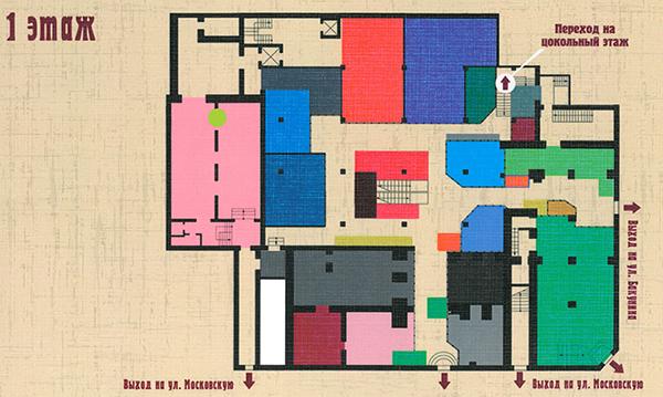 Схема гостиной двора в туле